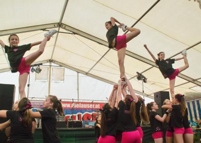 Cheerleader Panthers beim SC Zeltfest in Marchegg