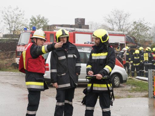 Feuerwehr Abschnittsübung in Breitensee