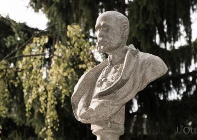 Enthüllung der Büste von Kaiser Franz Joseph I