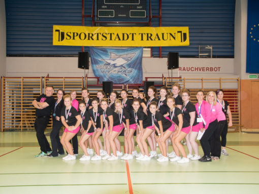 Cheerleader Regionalmeisterschaft im Sportzentrum HAKA-Arena in Traun